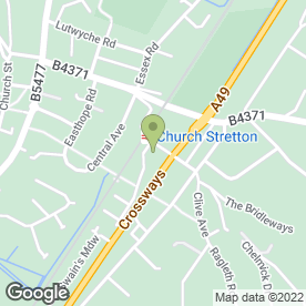 Map of Central Garage in Church Stretton, shropshire