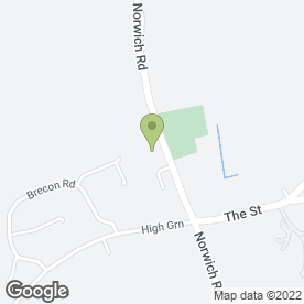 Map of Brooke Pre-School in Brooke, Norwich, norfolk