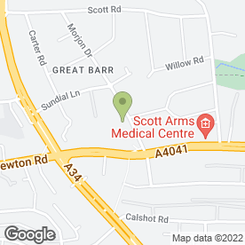 Map of Beacon Pet Aquarium in Great Barr, Birmingham, west midlands