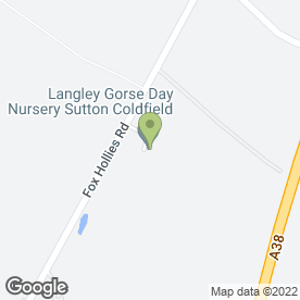 Map of Langley Gorse Day Nursery in Sutton Coldfield, west midlands