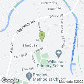 Map of Sharon's Florist in Bradley, Bilston, west midlands