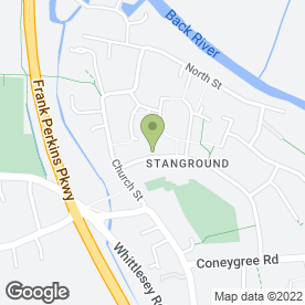 Map of Stanground St. John's Primary School in Stanground, Peterborough, cambridgeshire