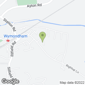 Map of Roger Bartram Carpets in Wymondham, norfolk