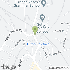 Map of Sutton Nails in Sutton Coldfield, west midlands