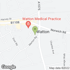 Map of SCR Security in Watton, Thetford, norfolk