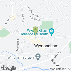 Map of NatWest Bank plc in Wymondham, norfolk