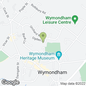 Map of Ogden Court Community Hospital in Wymondham, norfolk