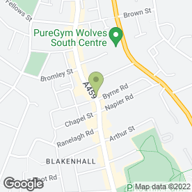 Map of Techno 2day Ltd in Wolverhampton, west midlands