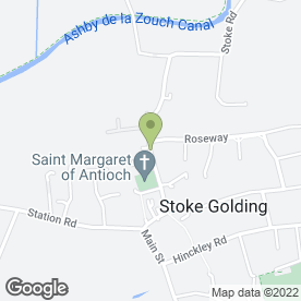 Map of C.J Draper in Stoke Golding, Nuneaton, warwickshire