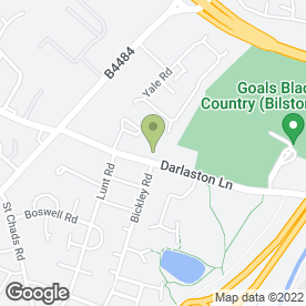 Map of Goals Soccer Centres in Willenhall, west midlands