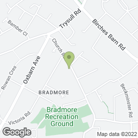 Map of Bradmore Social Club in Bradmore, Wolverhampton, west midlands