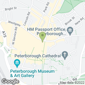 Map of 1860 Suit Hire at Greenwoods Menswear Ltd in Peterborough, cambridgeshire