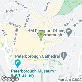 Map of Wimpy Restaurant in Peterborough, cambridgeshire
