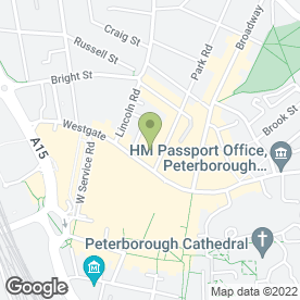 Map of CC in Peterborough, cambridgeshire