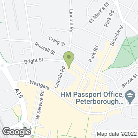 Map of U.K Fried Chicken & Pizza in Peterborough, cambridgeshire