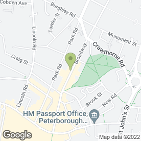 Map of Hegarty LLP Solicitors in Peterborough, cambridgeshire