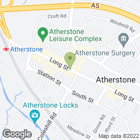 Map of Greggs in Atherstone, warwickshire