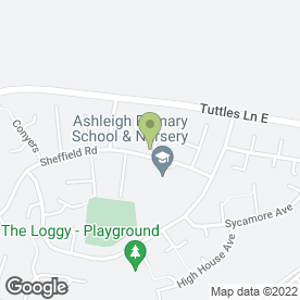 Map of Ashleigh Infants School & Nursery in Wymondham, norfolk