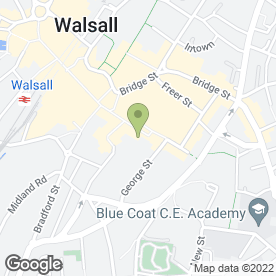 Map of Greggs in Walsall, west midlands