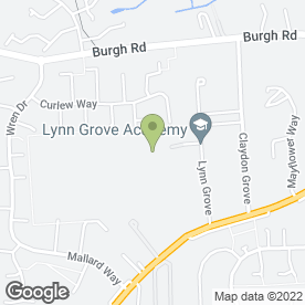 Map of Lynn Grove High School in Gorleston, Great Yarmouth, norfolk
