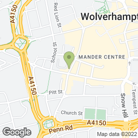 Map of Hough's Hair Loss & Hair Replacement in Wolverhampton, west midlands