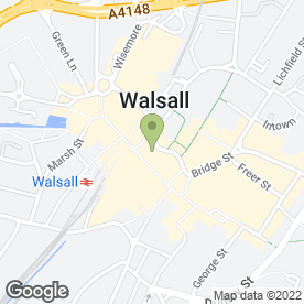 Map of Brook Street in Walsall, west midlands