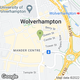 Map of Greggs in Wolverhampton, west midlands