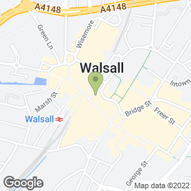 Map of Thomson Bureaux de Change in Walsall, west midlands