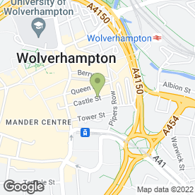 Map of Challinors in Wolverhampton, west midlands