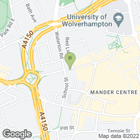 Map of Made in Thai Restaurant in Wolverhampton, west midlands