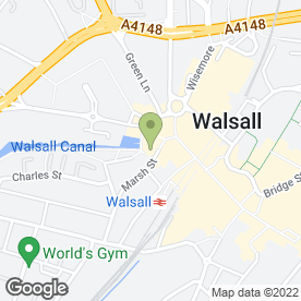 Map of Costa in Walsall, west midlands