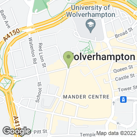Map of State Bank of India in Wolverhampton, west midlands