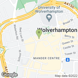 Map of Lloyds TSB Business Banking in Wolverhampton, west midlands