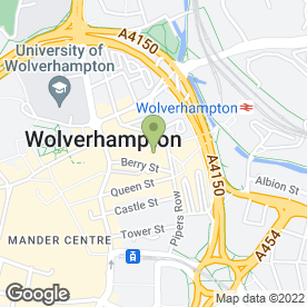 Map of Britannia Wolverhampton - Conferencing in Wolverhampton, west midlands