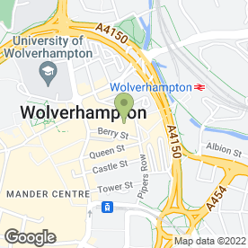 Map of Britannia Hotel in Wolverhampton, west midlands