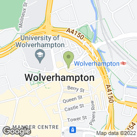 Map of Rileys Sports Bar in Wolverhampton, west midlands