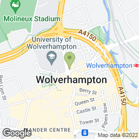 Map of Hogshead in Wolverhampton, west midlands