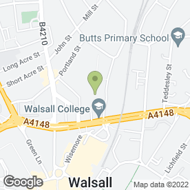 Map of Walsall College in Walsall, west midlands