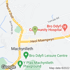 Map of Mach Taxis in Machynlleth, powys