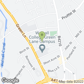 Map of SOVEREIGN COACHES in Walsall, west midlands