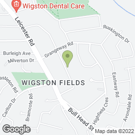 Map of WIGSTON ROOFING in Wigston, leicestershire