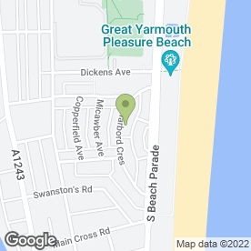 Map of Cosmic Nights in Great Yarmouth, norfolk