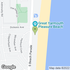 Map of Sara's Tearooms in Great Yarmouth, norfolk