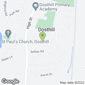 Map of Curtain Style in Dosthill, Tamworth, staffordshire