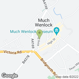 Map of Much Wenlock Medical Practice in Much Wenlock, shropshire