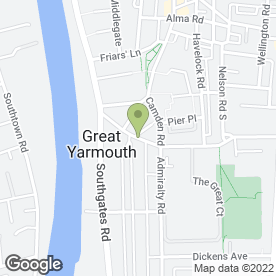 Map of D & G Kitchens & Bedrooms in Great Yarmouth, norfolk