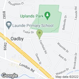 Map of AKM Foods Ltd in Oadby, Leicester, leicestershire