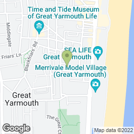 Map of Comfort Hotel Gt. Yarmouth in Great Yarmouth, norfolk