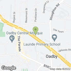 Map of Malcolm A Goodall in Oadby, Leicester, leicestershire