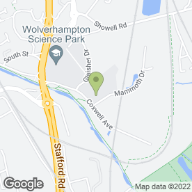 Map of Greenleaf Waste in Wolverhampton, west midlands